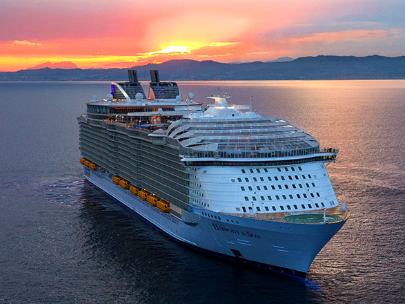 Celebrar la Navidad a bordo del Harmony of the Seas