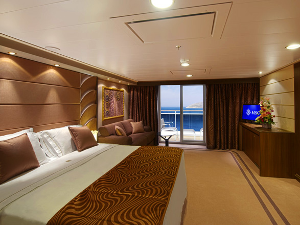 photo cabine ab MSC Divina - Suite