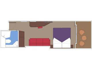 Photo cabine MSC Seaside  - Cabine avec balcon