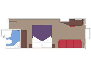 Photo cabine MSC Seaside  - Cabine extérieure