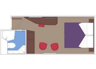 Photo cabine MSC Seaside  - Cabine intérieure
