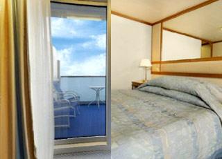Foto cabina Crown Princess  - Cabina con balcone