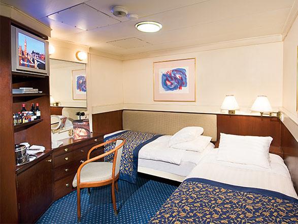 Foto cabina MS Prinsendam  - Cabina interna