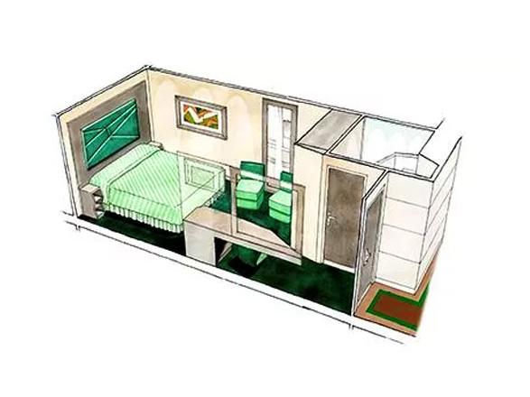 Foto cabina MSC Seaview  - Cabina interna