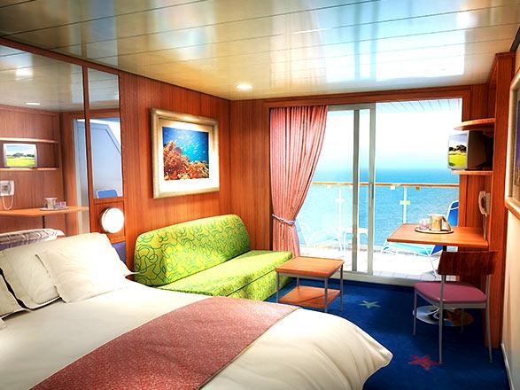 Foto cabina Norwegian Dawn  - Cabina con balcone