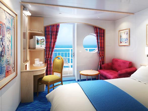 Foto cabina Norwegian Sky  - Cabina con balcone