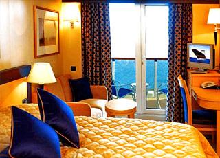 Foto cabina Queen Elizabeth  - Cabina con balcone