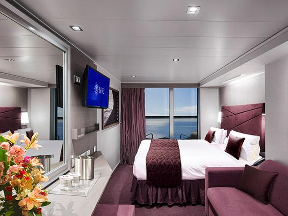 Foto camarote MSC Seaside  - Camarote con balcón