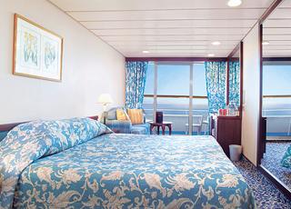 Foto camarote Pacific Princess  - Camarote con balcón