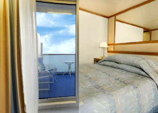 Photo cabine Emerald Princess  - Cabine avec balcon