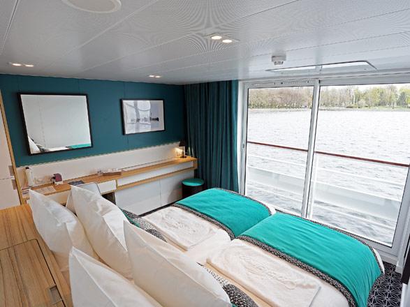 photo cabine ab MS Elbe Princesse (ou similaire) - Cabine avec balcon
