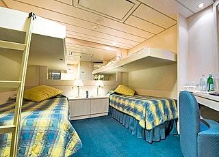 Photo cabine MSC Lirica  - Cabine intérieure