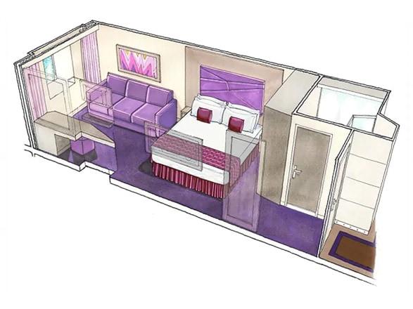 photo cabine ab MSC Seashore - Cabine intérieure