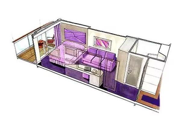 Photo cabine MSC Seaview  - Cabine avec balcon