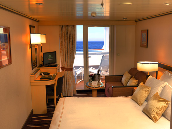 Photo cabine Queen Mary 2  - Cabine avec balcon