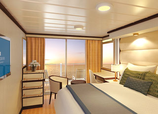 Photo cabine Royal Princess  - Cabine balcon