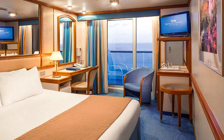 Photo Cabine Caribbean princess - Cabine Balcon