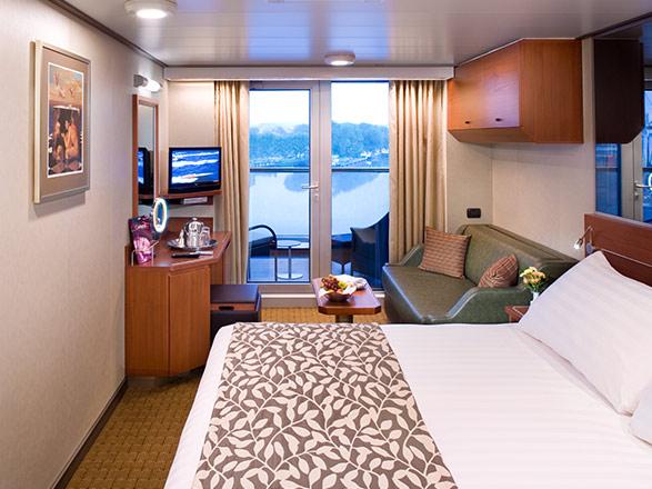 Foto cabina MS Nieuw Amsterdam  - Cabina con balcone