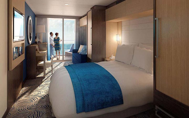 Foto Cabina Ovation of the Seas - Cabina Balcone